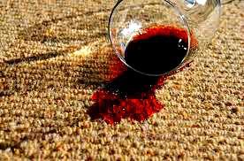 carpet wine stain