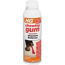 remove gum from carpets and rugs